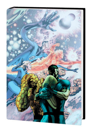 FANTASTIC FOUR BY JONATHAN HICKMAN OMNIBUS VOL. 1 HC DAVIS FINAL ISSUE COVER [NEW PRINTING, DM ONLY]