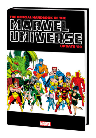 OFFICIAL HANDBOOK OF THE MARVEL UNIVERSE: UPDATE '89 OMNIBUS HC FRENZ IRON MAN C OVER [DM ONLY]