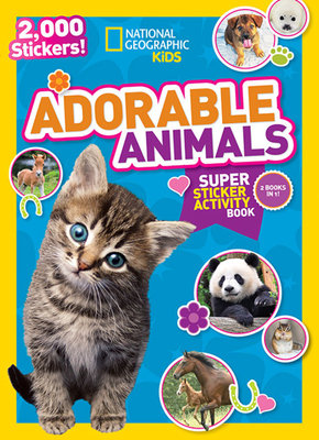 National Geographic Kids Adorable Animals Super Sticker Activity Book