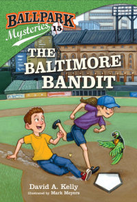 Book cover for Ballpark Mysteries #15: The Baltimore Bandit