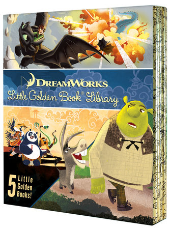 DreamWorks Little Golden Book Library 5-Book Boxed set