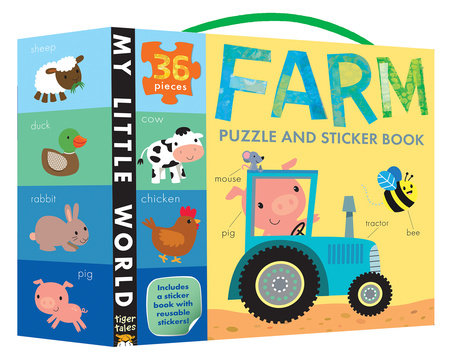 Farm Puzzle and Sticker Book