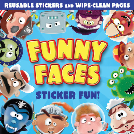 Funny Faces Sticker Fun! (Blue)