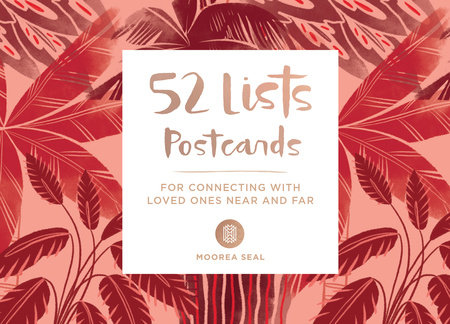 52 Lists Postcards (52 unique postcards, 26 different backgrounds, 13 different prompts)