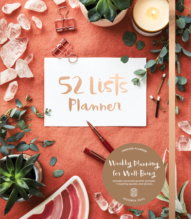 52 Lists Planner Undated 12-month Monthly/Weekly Planner with Pocket (Coral Crys tal)