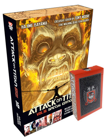Attack on Titan 16 Manga Special Edition with Playing Cards