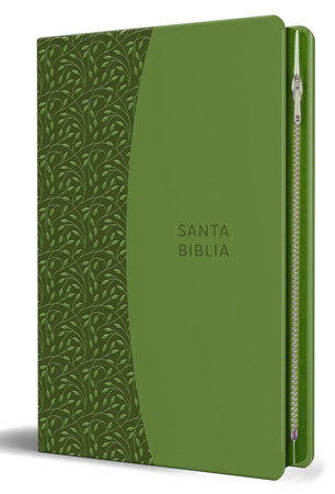 Biblia Reina Valera 1960 letra grande. Símil piel verde con cremallera / Spanish Holy Bible RVR 1960. Large Print, Green Leathersoft, with Zipper by Reina Valera Revisada 1960