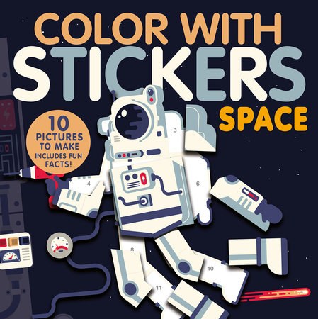 Color with Stickers: Space