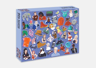 90s Icons Jigsaw Puzzle - Illustrated by Niki Fisher