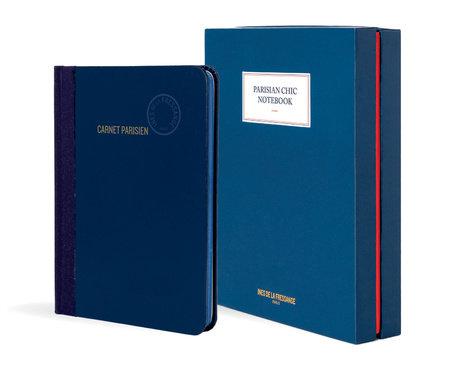 Parisian Chic Notebook (blue, large)